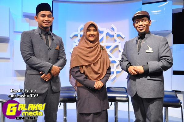 3 finalis yang berjaya ke pusingan akhir, Hadhari, Adibah & Azamudin