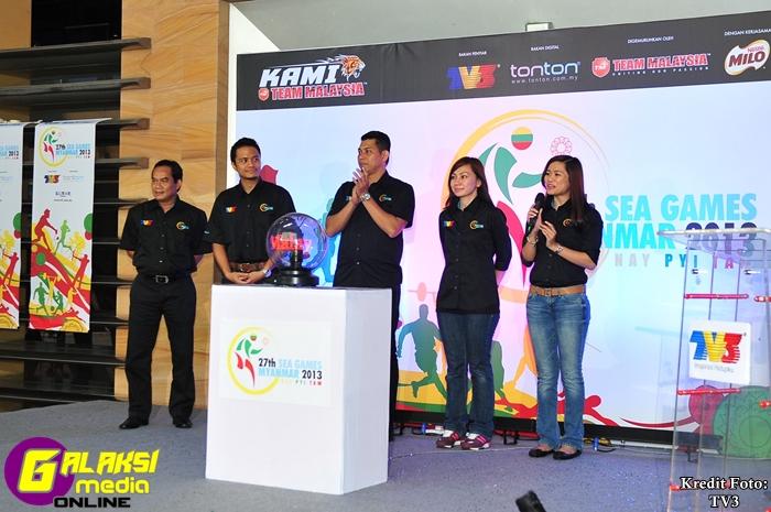 Barisan hos liputan Sukan SEA 27 di TV3