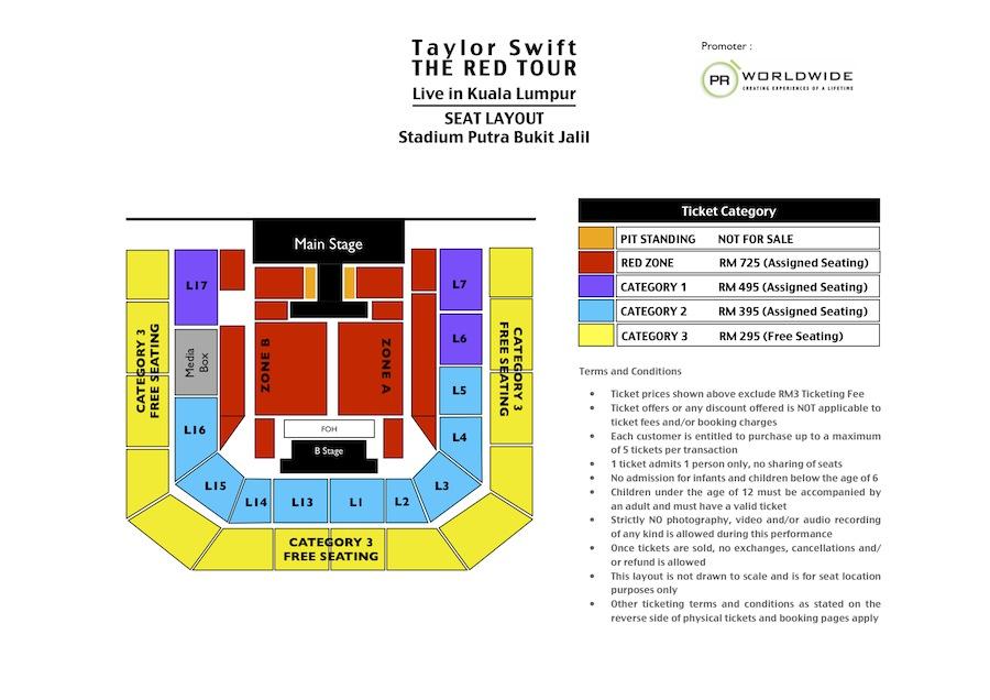 TS Putra Seat Map