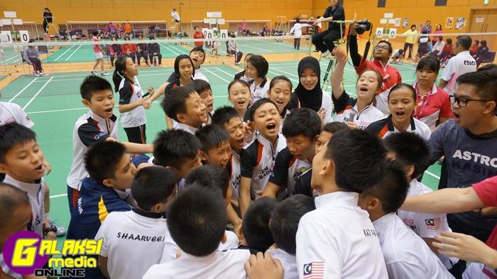 Para peserta terbaik semasa siri Kem Badminton Astro tahun lepas