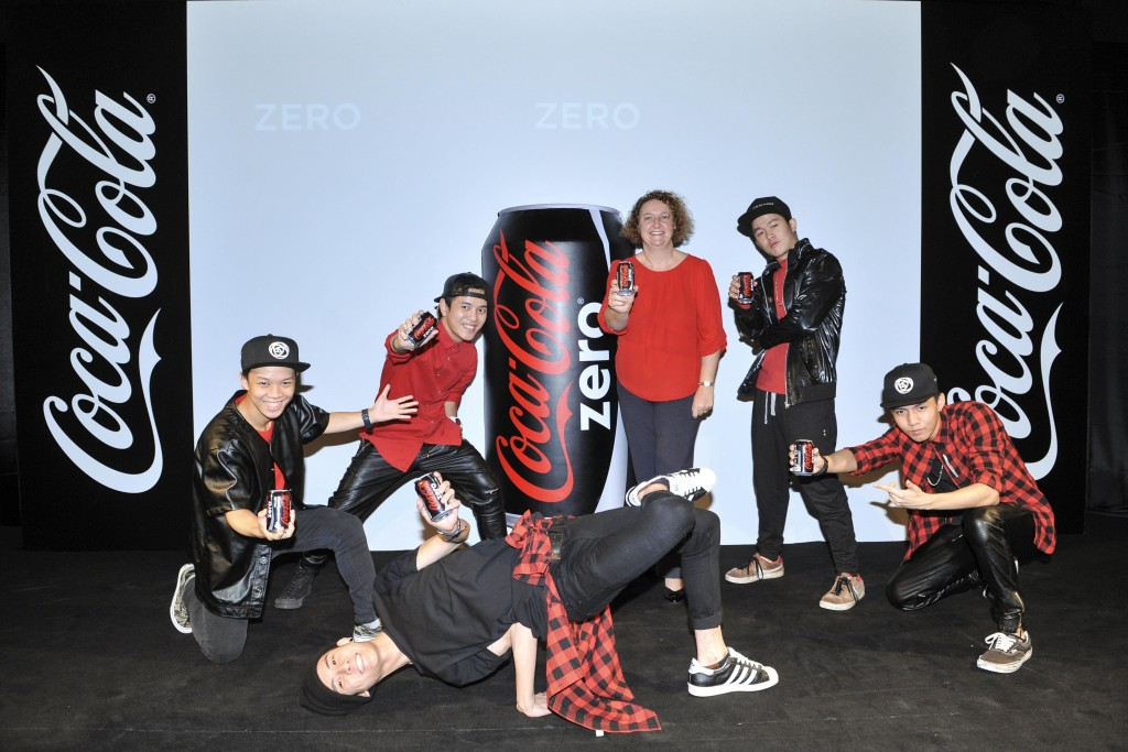 The Coca-Cola Company_s General Manager of Malaysia-Singapore-Brunei Region Ms. Gill McLaren at the Launch of Coca-Cola zero today