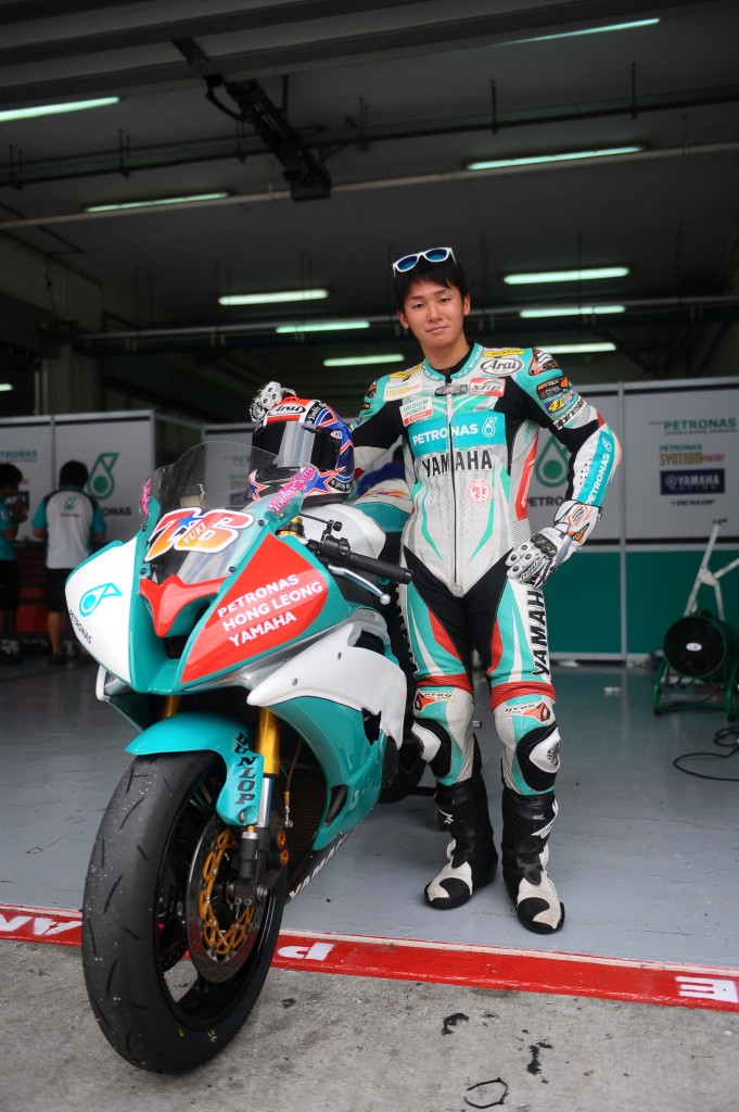 Yuki Ito with his Yamaha YZF-R6