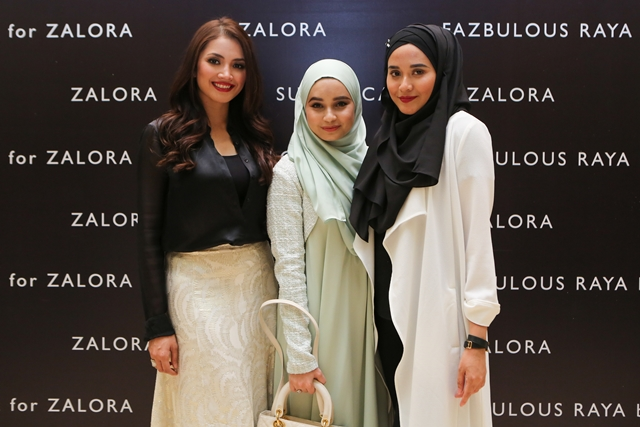 Designers Fazura, Belle (Bella Ammara), and Atiqah (Sugarscarf)