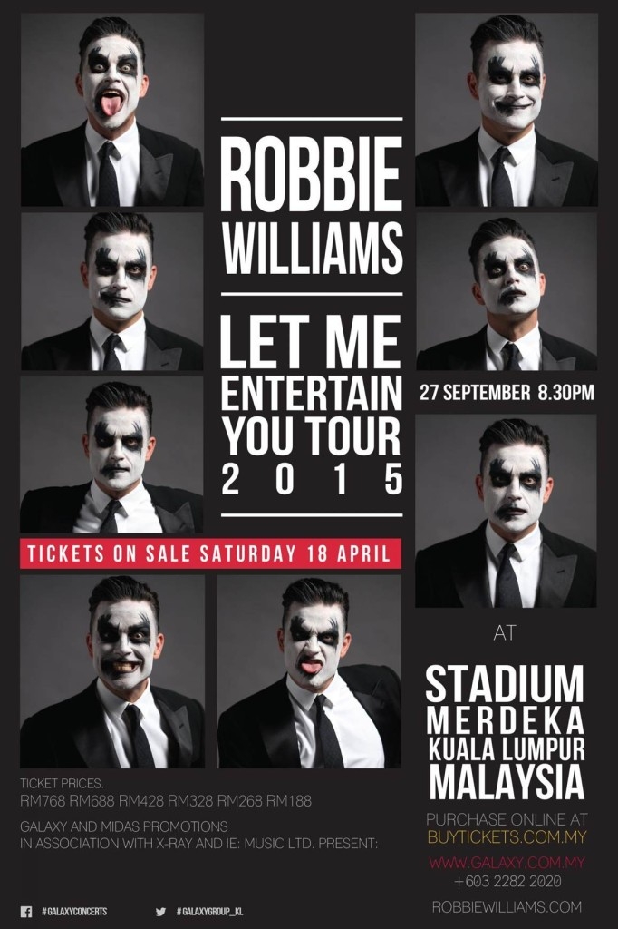 Robbie Williams KL Concert Keyart