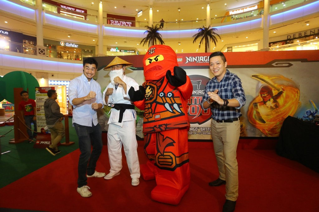Image 3 - (L to R) Kevin Hagino, Senior Regional Brand Manager, LEGO_ Sensei Wu_ Kai_ and Dick Yoong, Country Manager of LEGO Malaysia