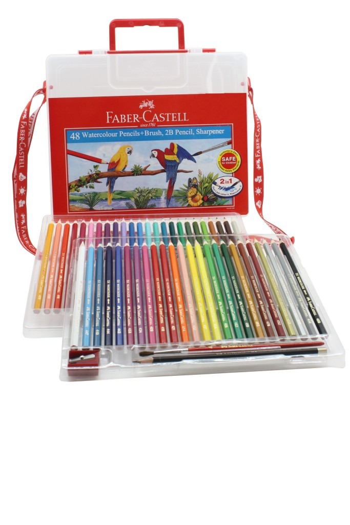 Faber-Castell Wonderbox 48-Classic Colour Pencils with Straps