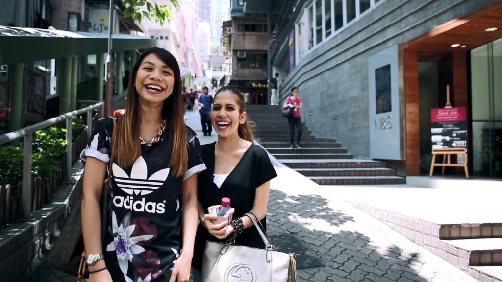 Hunny and Anis having a great time in Hong Kong