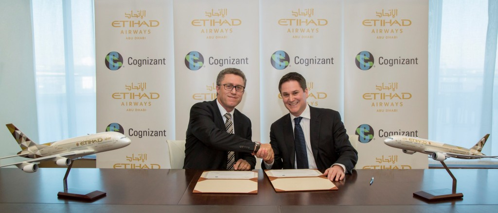 Etihad Airways - Cognizant Agreement Photo