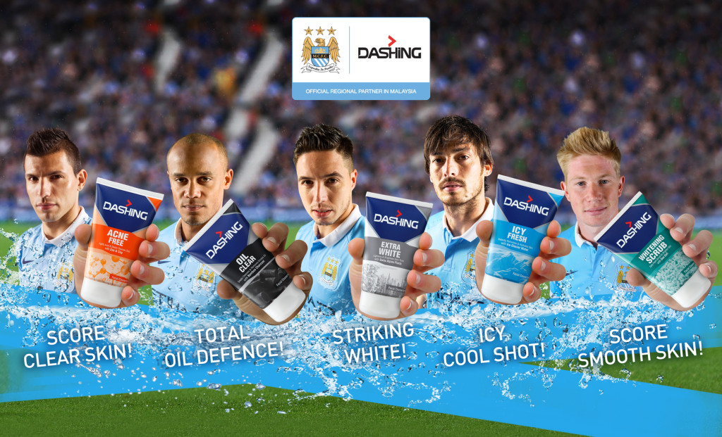 Key Visual- Dashing Facial cleansers with MCFC players
