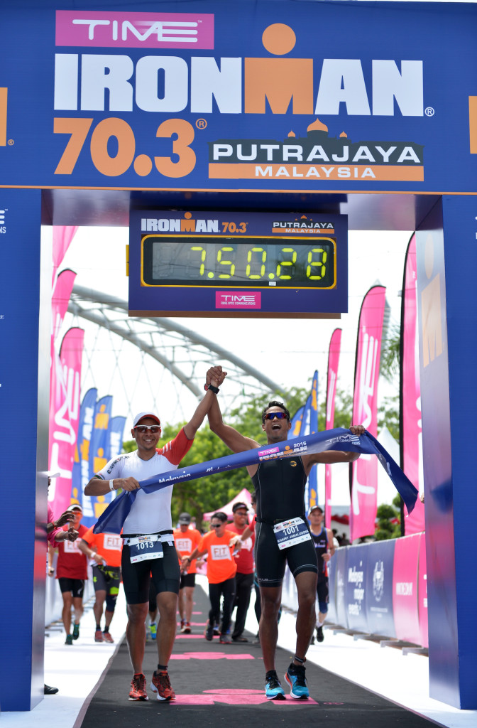 YB Khairy Jamaluddin, Youth & Sports Minister finishing the TIME IRONMAN 70.3 Putrajaya on 3 April 2016