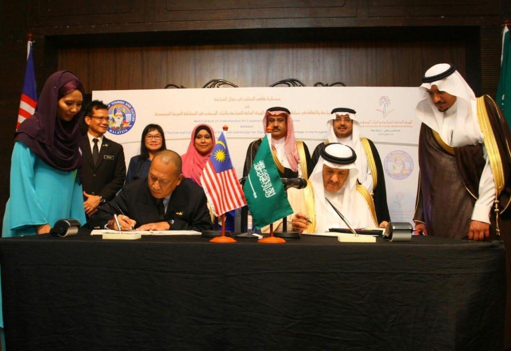 MOU SIGNING BETWEEN MALAYSIA & SAUDI ARABIA ON TOURISM COOPERATION 16 MAY