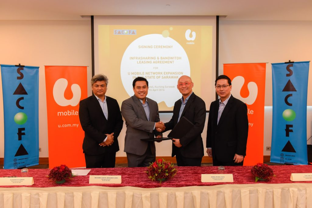 U Mobile Partners With Sacofa Sdn Bhd To Accelerate Network Expansion In Sarawak