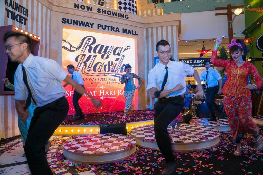 Dancers dancing to one of PRamlee Classic Song, Kwek Mambo during Raya Klasik Launch at Sunway Putra Mall-S