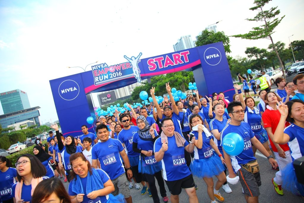 Huge turn up for the NIVEA Empower Run to promote Women Empowerment.