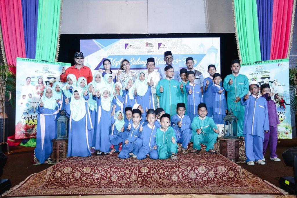 Sidang Media Anak Mami Nasi Kandaq turut disertai anak-anak dari Rumah Penyayang Hembusan Kasturi