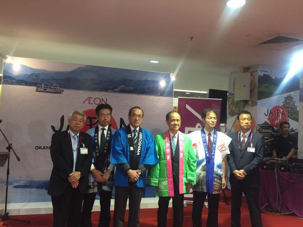 Mayors of Okayama, Hiroshima & Deputy Mayor of Matsuyama & Takamatsu attended to Launch the Setouchi Fair