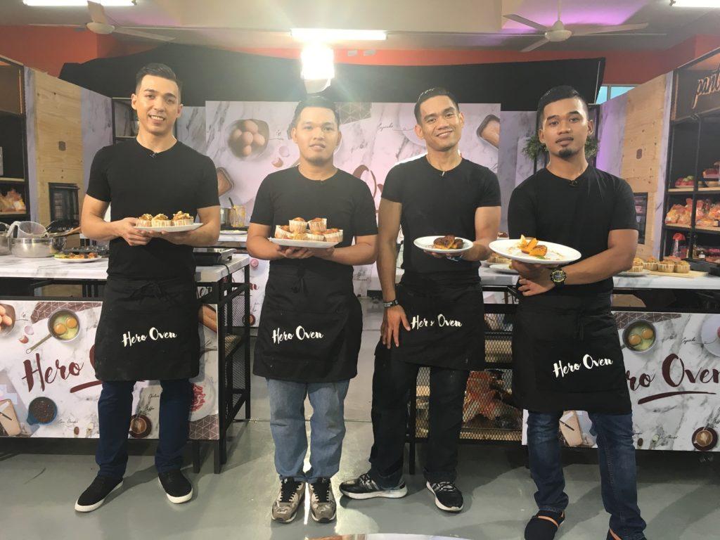 Peserta-peserta Hero Oven - Mashad, Jasni, Fitri dan Oney.