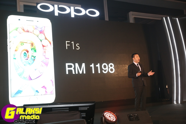 William Fang, CEO of OPPO Malaysia unveiled the price of F1s
