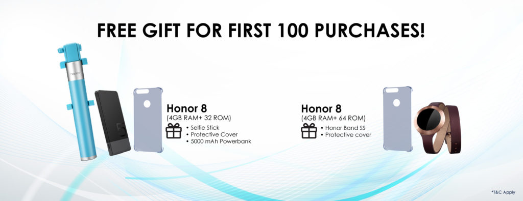 Honor 8 - First 100 buyers giftpack